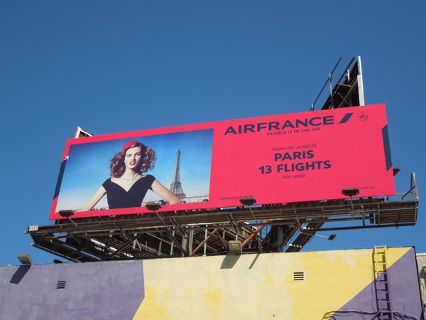Air France Paris 13 flights 2014 billboard