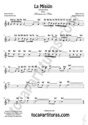 8 La Misión Partitura Fácil con Notas Bso