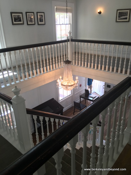 grand staircase at Marion Davies Guest House at Annenberg Community Beach House in Santa Monica, California
