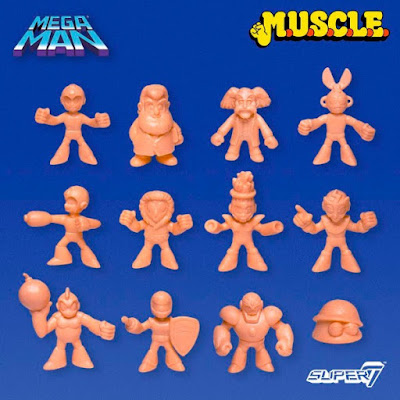 Mega Man M.U.S.C.L.E. Rubber Mini Figures by Super7