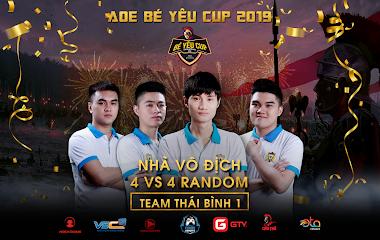 [AoE] AoE Bé Yêu Cup 2019 thể thức 4vs4 Random: chức vô địch gọi tên AoE Thái Bình