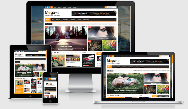 Mega Mag - Responsive Magazine Blogger Template Premium