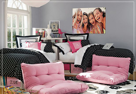 carrie 39 s design musings dorm room decorating. Black Bedroom Furniture Sets. Home Design Ideas