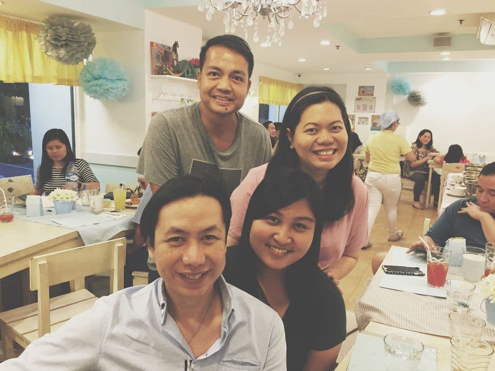 Photo with former officemates during our Stacy's BGC baby shower
