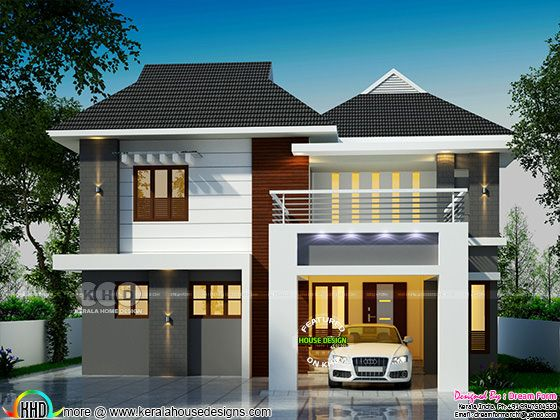 2174 square feet 3 bedroom modern house