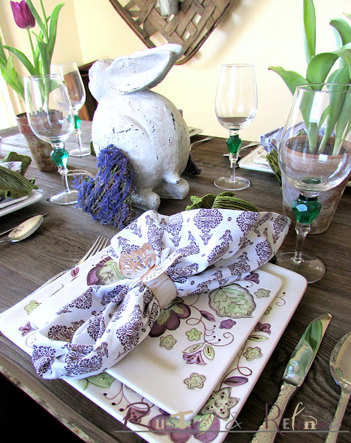 Spring tablescape with pretty colors