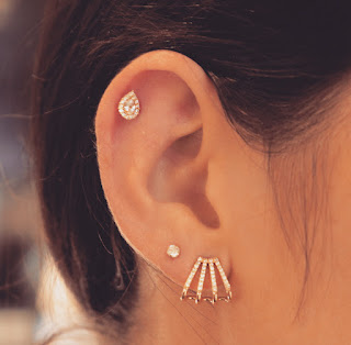 cartilage piercings, earrings for cartilage, studs for cartilage, internally threaded earrings, internally threaded piercing earrings