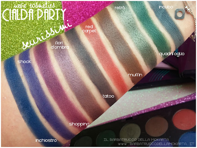 scurissimi swatches neve cosmetics cialda party review recensione makeup
