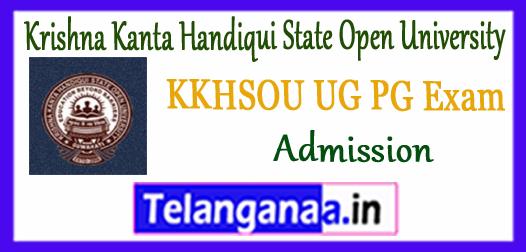 KKHSOU Krishna Kanta Handiqui State Open University UG PG Diploma Admission Application Form 2018