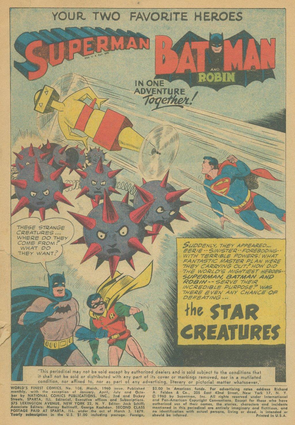 Read online World's Finest Comics comic -  Issue #108 - 3