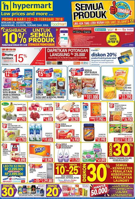 Katalog Promo HYPERMART JSM Akhir Pekan Periode 23 - 28 Februari 2018