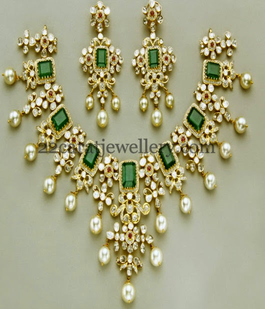 Exclusive And Latest Kundan Necklace Jewellery Designs