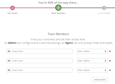 add team members email address