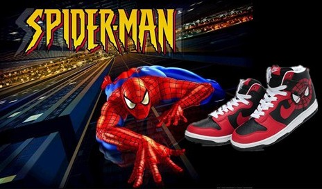 size 40 a2ad5 6d50a Spiderman Nike Dunk  Spiderman Nike Shoes