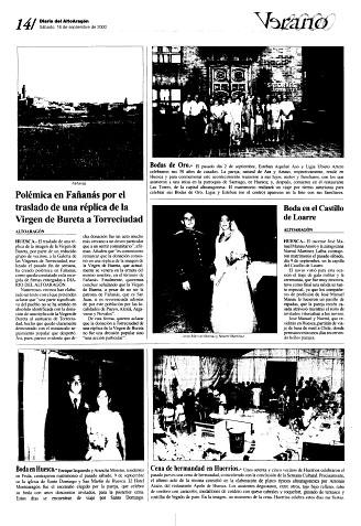 Polémica en Fañanás por el traslado de una réplica de la Virgen de Bureta a Torreciudad