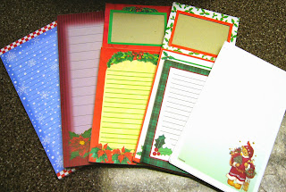 Small writing tablets for Operation Christmas Child shoebox letters