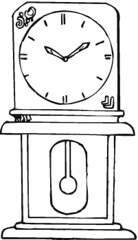 grandfather clock colouring pages coloring pages now
