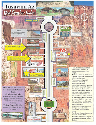 Tusayan Arizona Business Map