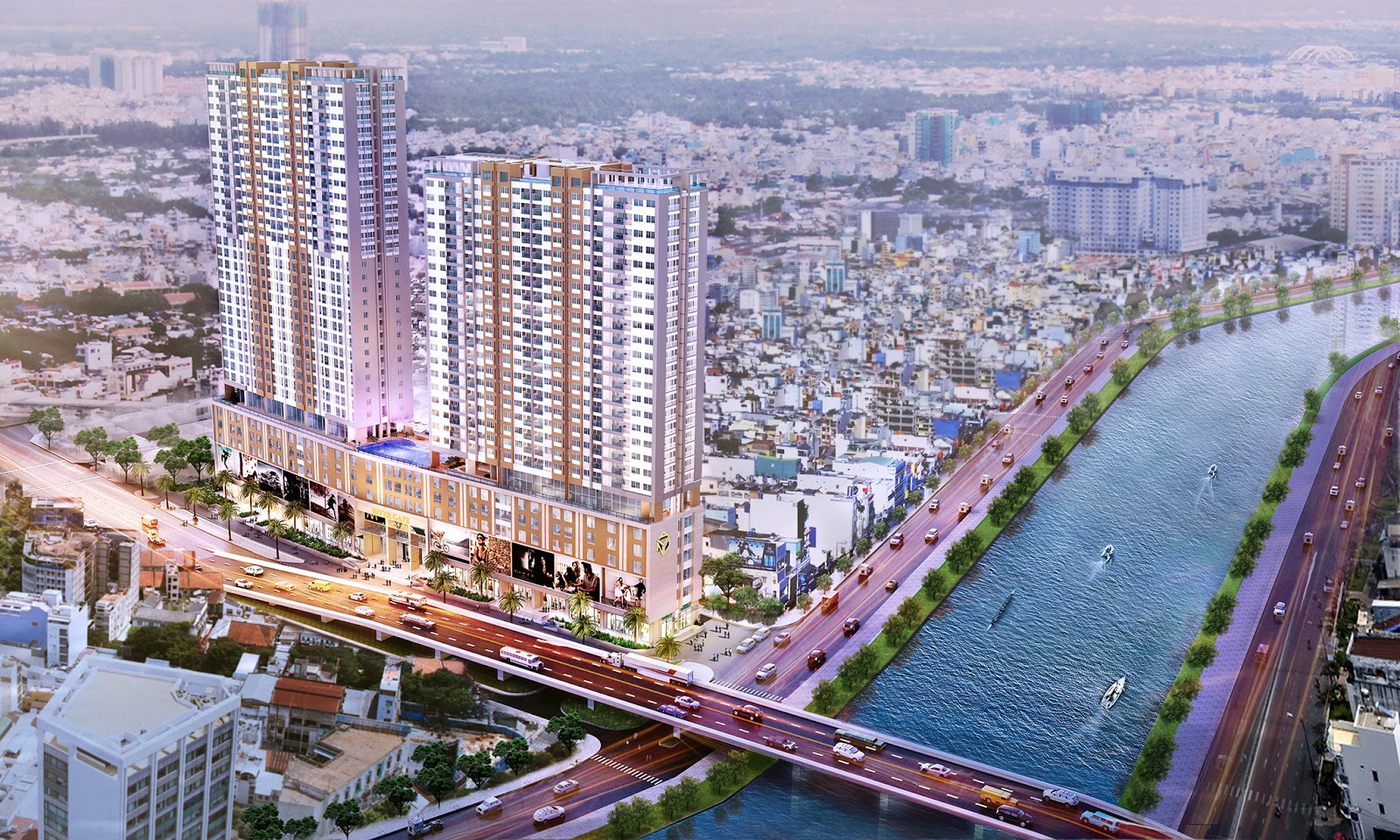 RiverGate Apartment Project , District 4, Fully Modern - Fanstatic view