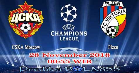 Prediksi Bola855 CSKA Moscow vs Plzen 28 November 2018