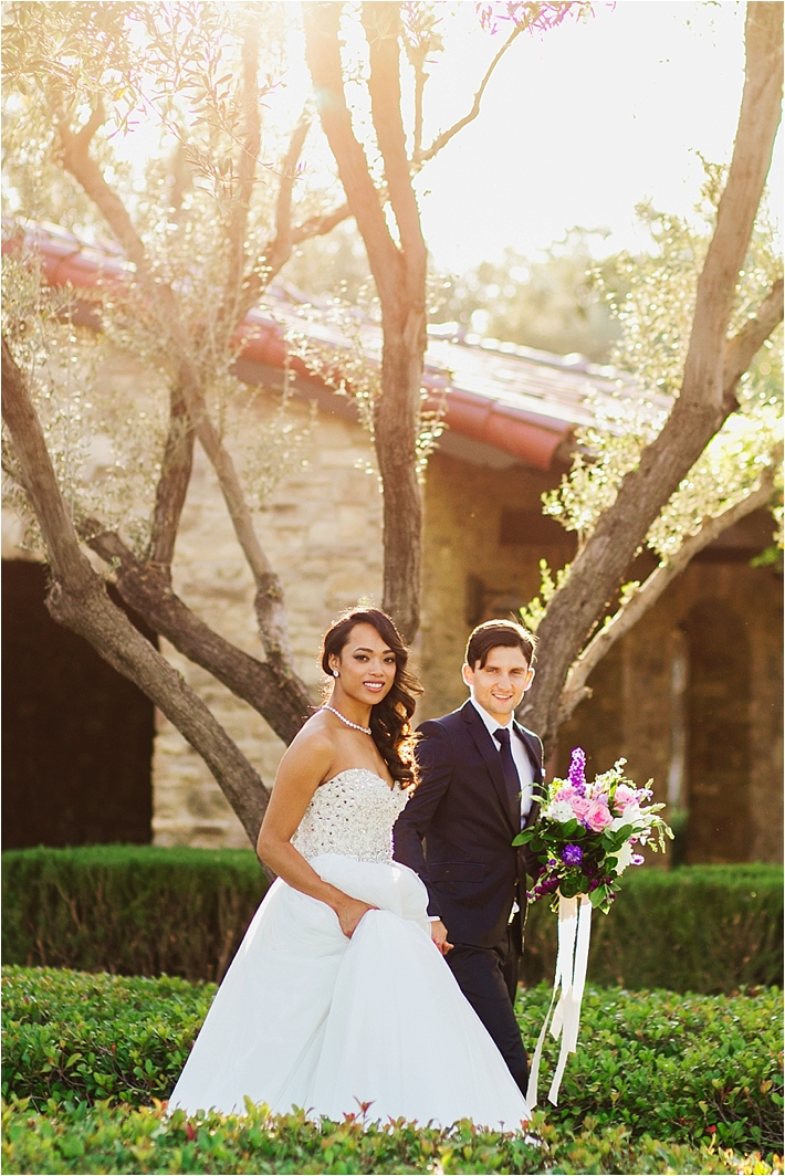 Orange County Elegant Bride and Groom Portraits by Damaris Mia Photography