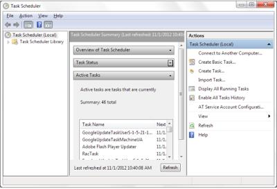 Cara Membuat Reminder Dengan Scedule Task Di Komputer Windows 7