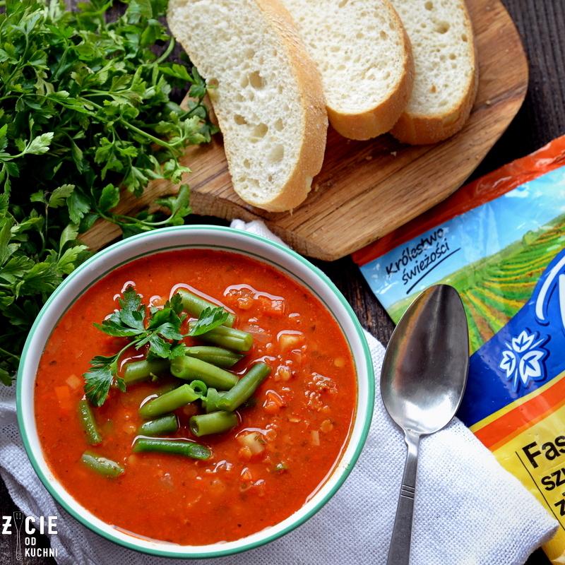 zupa, czerwona soczewica, zupa z soczewicą, zielona fasolka,poltino, zielona fasolka poltino,zimowa zupa, zycie od kuchni