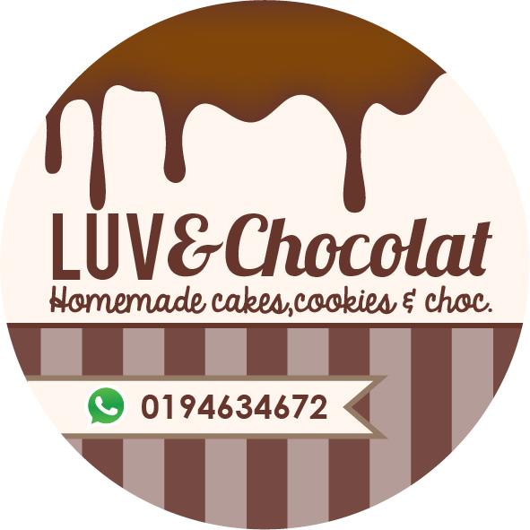 Contoh design sticker untuk luve chocolat homemade cakes cookies choc