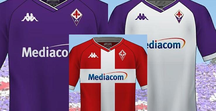 Kappa Third Jersey Red 20//21 Fiorentina