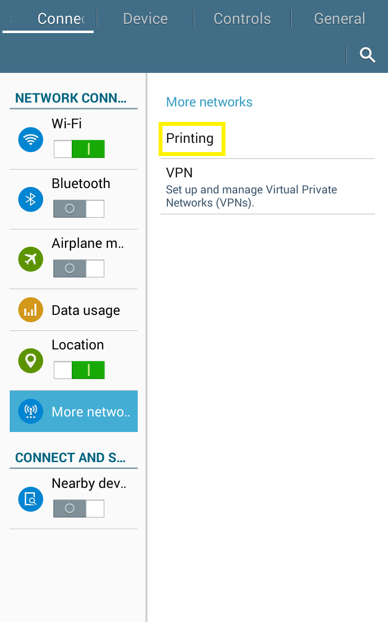 Wild Lion Software: Installing Google Cloud Print on Samsung Galaxy