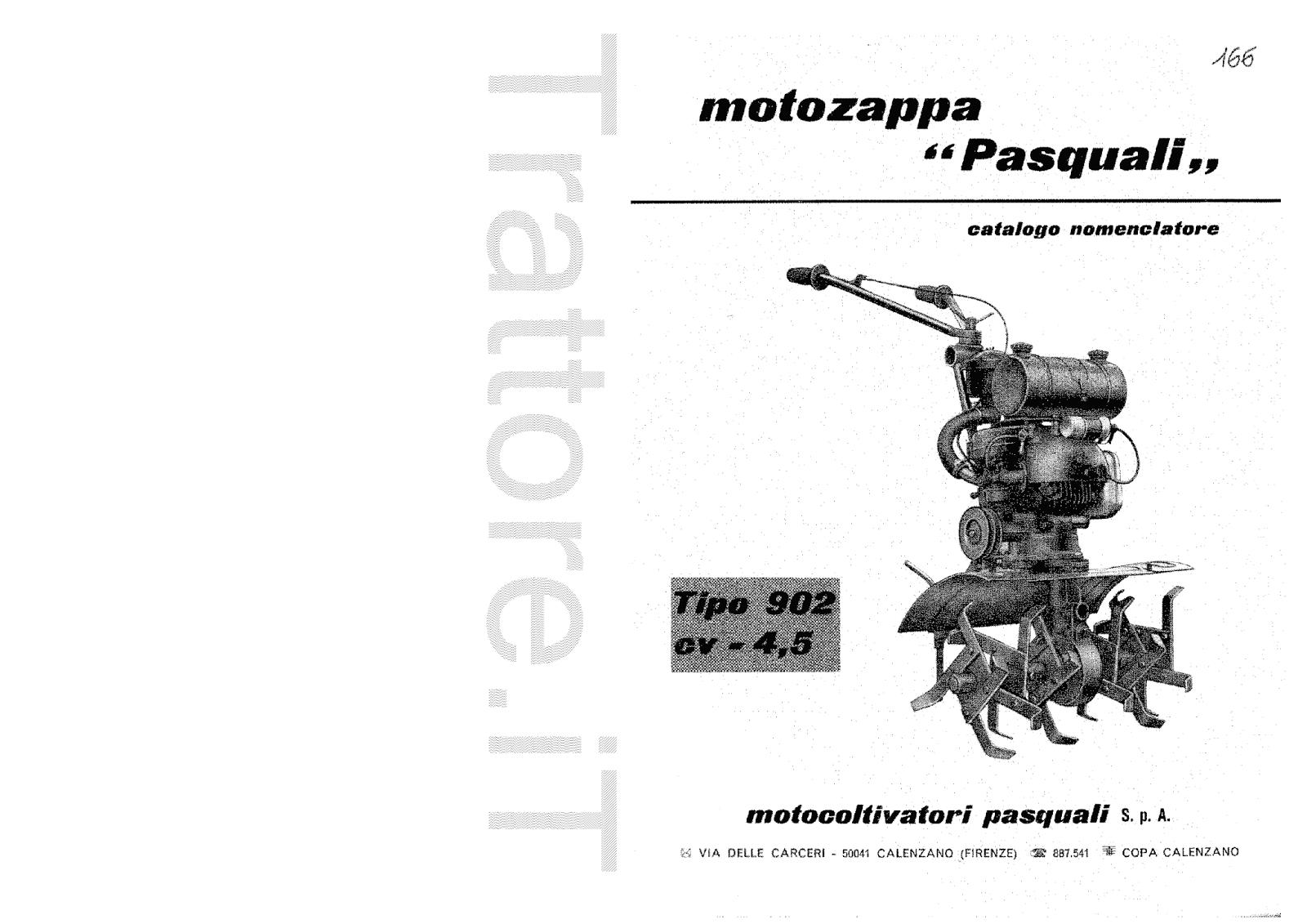 InfoTrattore.it: Motozappa Pasquali 902 CV 4.5 manuale
