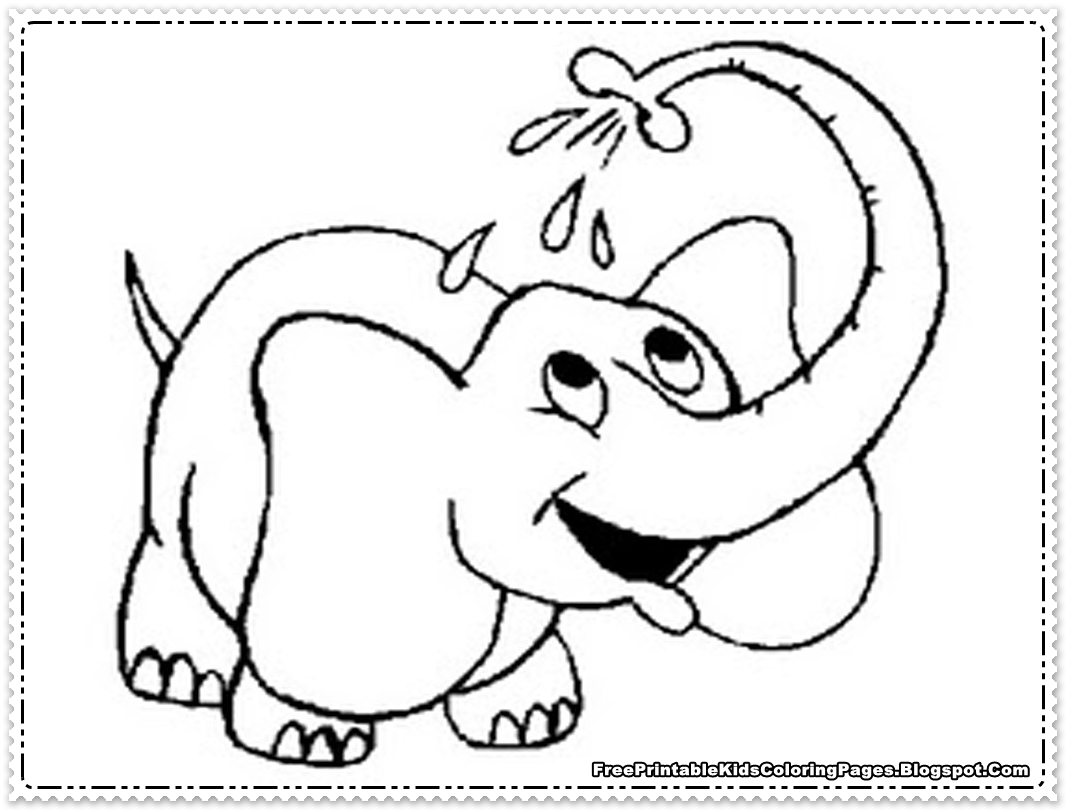 Elephant coloring pages printable free printable kids for Elephant template for preschool
