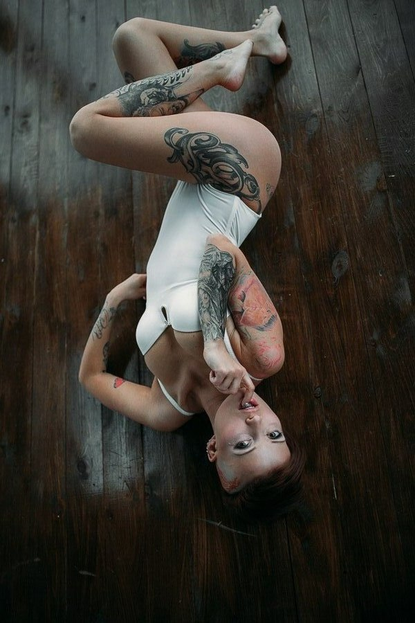 Dance on a string! tattoo model