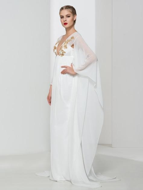 Ericdress V Neck Sequins Unique Design Evening Dress - Price:USD $135.24 (57% OFF)