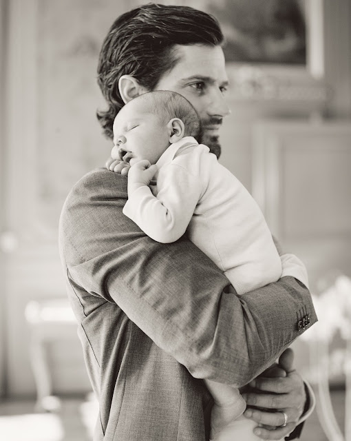 of photos of Prince Carl Philip, Princess Sofia and their children Prince Alexander, showing them altogether