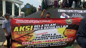 Ribuan Massa Dari FMBR Menggelar Aksi 1312 Di Tugu Kujang Bogor