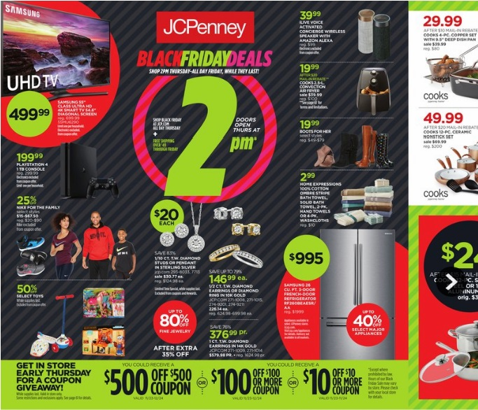 In , JCPenney opened its stores to the general public at 3 p.m. on Thanksgiving afternoon and stayed open until 10 p.m. on Black Friday. As for Black Friday, JCPenney is predicted to open at 1 p.m. on Thanksgiving day and remain open at 10 p.m. on Friday, Nov.