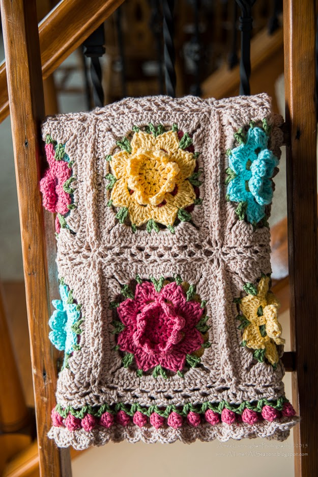 A Time For All Seasons Rebekahs Flower Afghan