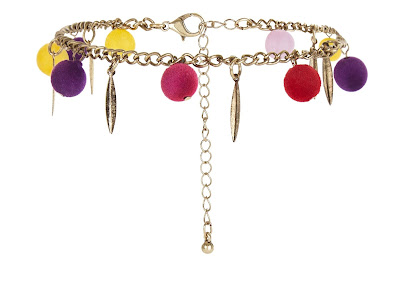 The Best Jewellery Buys from the High Street this SS16 - River Island - Multicoloured Pom Pom Anklet - £4.99