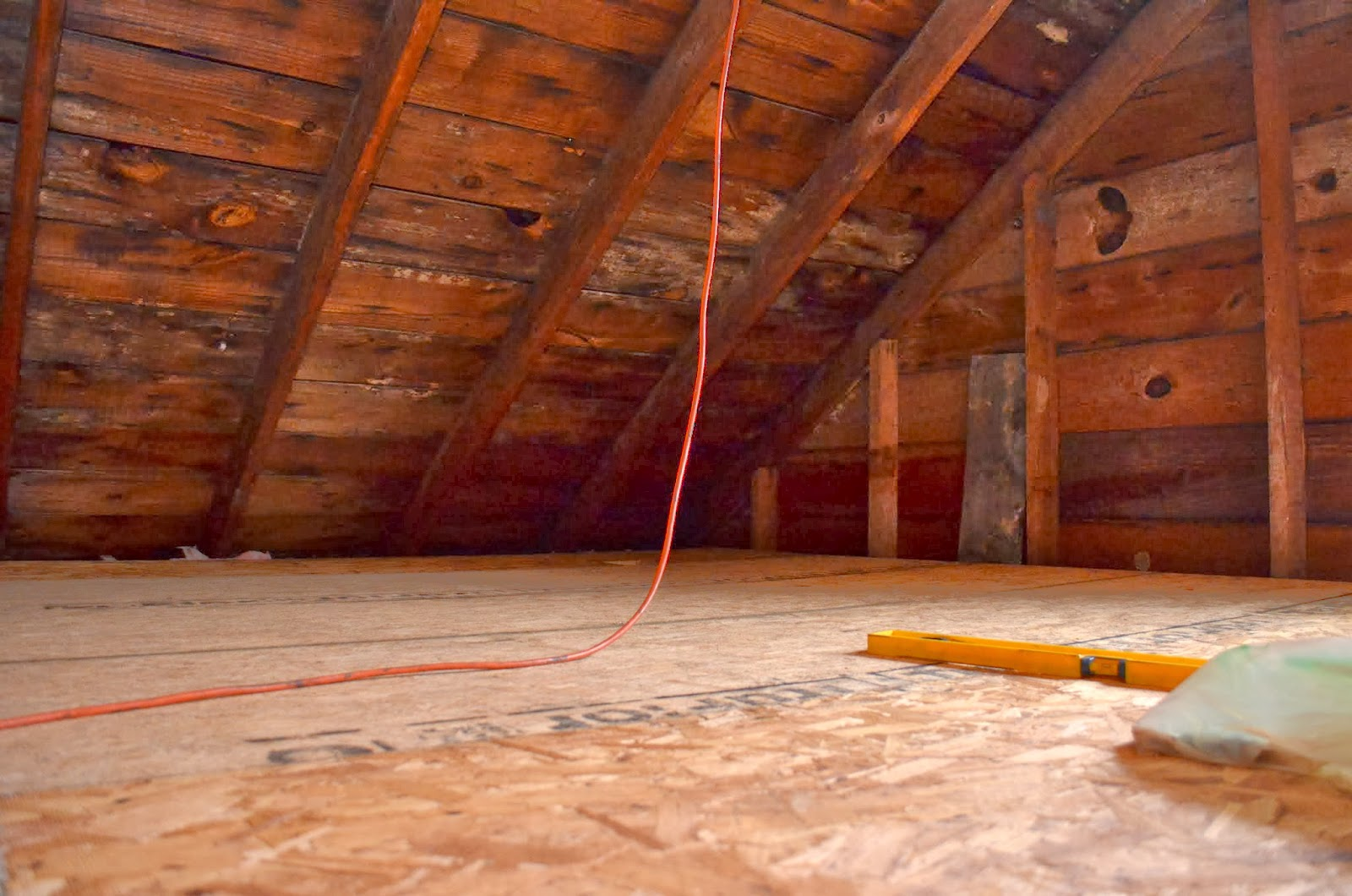 In the Little Yellow House: We Have an Attic Floor!