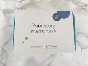 Findmypast DNA testing kit box