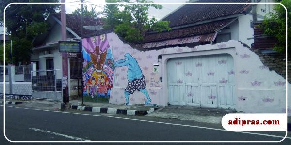 Mural Semar di Wilayah Gunung Ketur, Pakualaman, Yogyakarta | adipraa.com