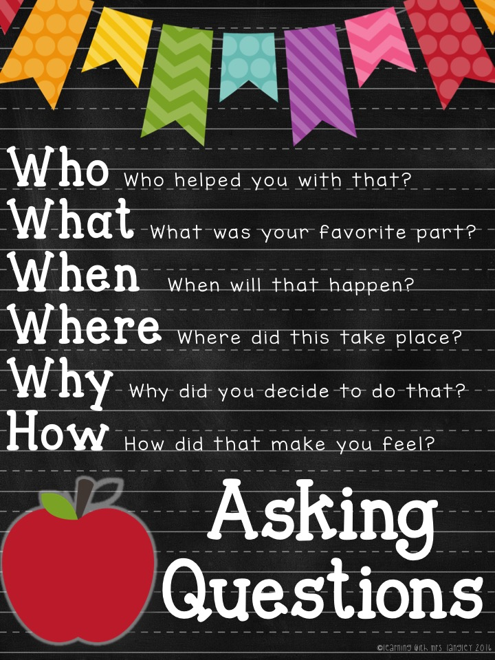 First grade morning meeting questions