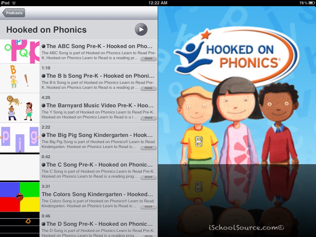 Free Ischool Source Hooked On Phonics Podcast Videos