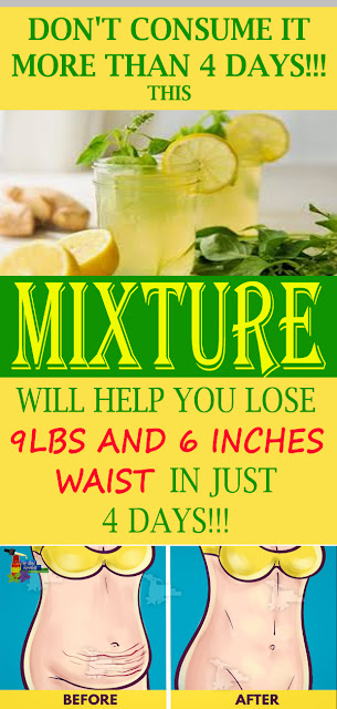 DON'T CONSUME IT MORE THAN 4 DAYS: THIS MIXTURE WILL HELP YOU LOSE WEIGHT – 4 KG AND 16 CM WAIST IN JUST 4 DAYS – RECIPE#NATURALREMEDIES
