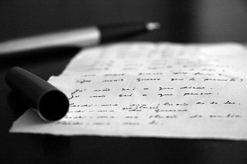 escreve hoje por mim