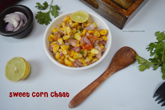 Sweet Corn Chaat Recipe | Masala Corn Recipe