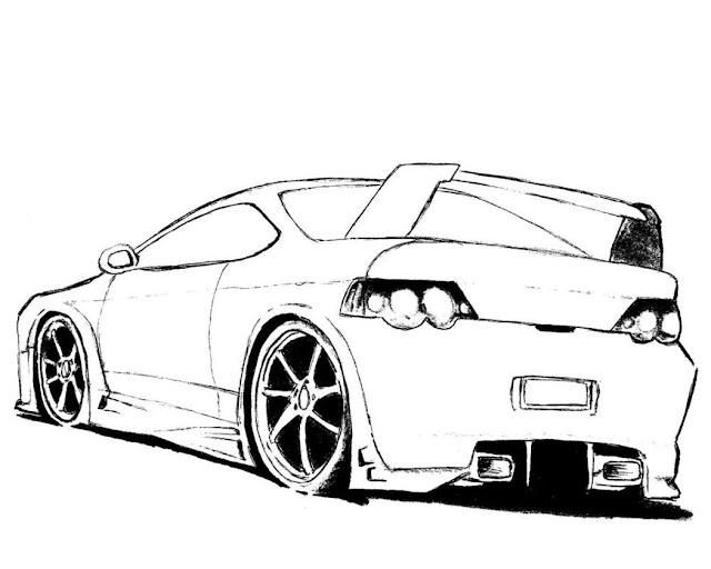 coloriage voiture
