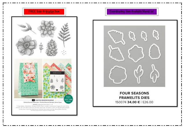 Nigezza Creates Stampin' Up! Four seasons Framelits
