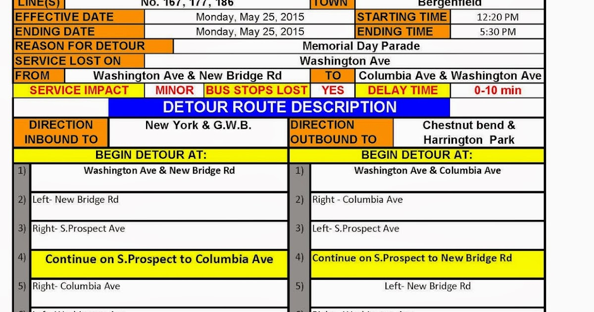 Bergenfield Police Department Memorial Day Parade Traffic